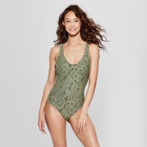 NWT Womens Crochet One Piece Swimsuit - Mossimo™